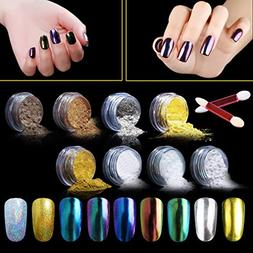 Elite99 Mirror Effect Nail Chrome Powder,Chameleon Color Cha