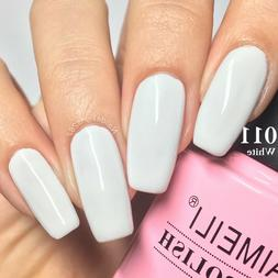 AIMEILI Nail Art Soak Off UV LED Black White Color Gel Polis