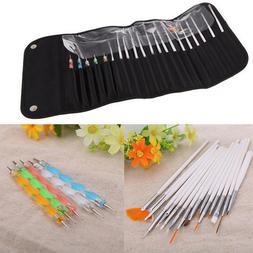20pcs Nail Art Design Dotting Painting UV Gel Pen Brush Mani
