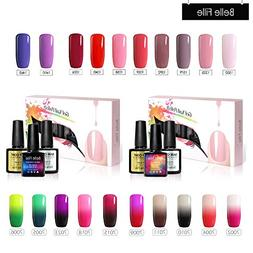 Belle Fille Pure Colors Nail Polish+Temperature Change Gel N