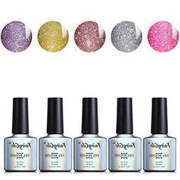 Nail Polish UV LED Neon Bling Gel Nail Art Starter Kit Soak