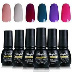 Nail Polish UV LED Soak Off Nail Art Gel Manicure Set 6PCS F