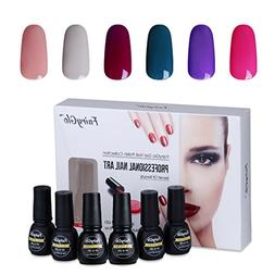 Nail Polish UV LED Soak Off Nail Art Gel Manicure Gift Set 6