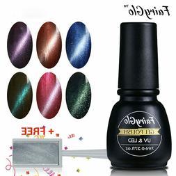 FairyGlo® Nail Set 1pc Magnets Stick+ 6pcs/lot Cat Eyes Gel