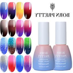 BORN PRETTY Nail UV Gel Polish Thermal Color Changing Glitte