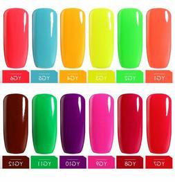 BELLE FILLE Neon Color UV LED Gel Nail Polish Varnish Soak-o