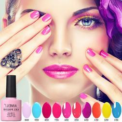 AIMEILI Summer Bright Colors UV LED Soak Off Neon Gel Nail P