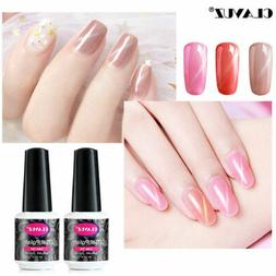 CLAVUZ Nude Pink 3D Cats Eye Gel Nail Polish Lacquer Magneti