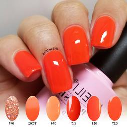 AIMEILI Orange UV LED Gel Nail Polish Soak Off Candy Color G