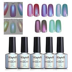 5PCS Pearl Nail Polish Gel Manicure Salon Decor Nail Art Ele