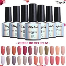 FairyGlo Pick Any 12 Color Gel Nail Polish Kit UV LED Soak O