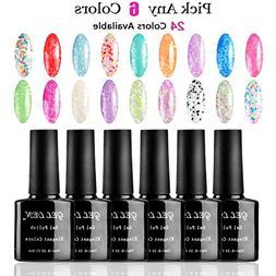 Gellen Pick Any 6 Colors Snowflake Series UV LED Gel Nail Po