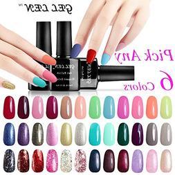 Gellen Pick Any 6 Colors Soak Off Gel Nail Polish 300 Colors