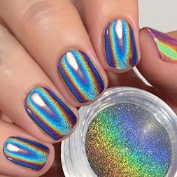 New PrettyDiva Jar Pure Holographic Powder Rainbow Chrome Na