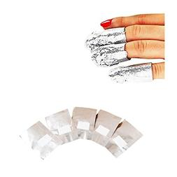 Set of 100pcs Professional Nail Art Aluminium Foils Wraps to