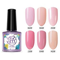 Gel Nail Polish, Soak Off UV LED Nail Lamp Pink Gel Polish f