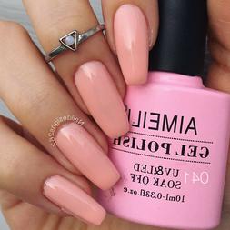 AIMEILI Soak Off UV LED Gel Nail Polish - Peachy  10ml