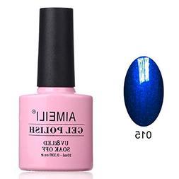 AIMEILI Soak Off UV LED Gel Nail Polish - Midnight Swim  10m