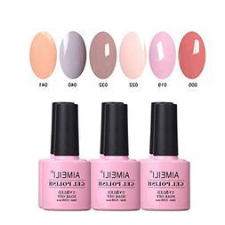 AIMEILI Soak Off UV LED Gel Nail Polish Multicolour/Mix Colo