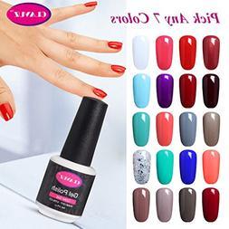 CLAVUZ Soak Off UV Gel Nail Polish Pick Any 7 Colors Collect