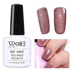 Elite99 Soak Off UV LED Gel Polish Bling Neon Color Nail Var