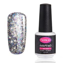 CLAVUZ Glitter Nail Polish Soak Off Starry Gel Nail Lacquer