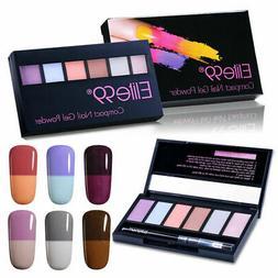 Elite99 Pearl 6 Colors Compact Gel Nail Powder Polish Set Th
