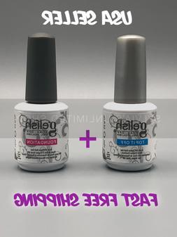 USA Seller - Gelish Foundation & Top Coat Combo - UV Soak Of