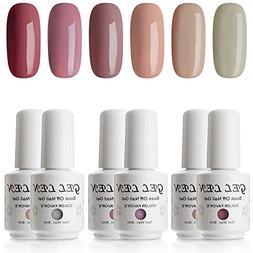 Gellen UV Gel Nail Polish Kit - Popular Nude Colors Collecti