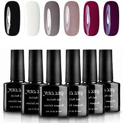 Gellen Classic Elegant Colors UV Gel Nail Polish Set, Pack o