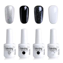 Elite99 UV Gel Nail Polish Set Soak Off Nail Art Kit 4 Color