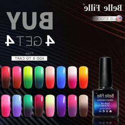 Belle Fille UV Gel Polish Thermal Color Changing Glitter Shi