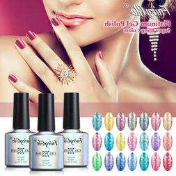 FairyGlo UV LED Diamond Glitter Platinum Gel Nail Art Gel Po