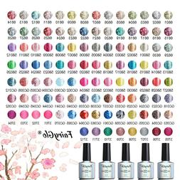FairyGlo Glitter UV LED Gel Nail Polish Soak Off Bling Color