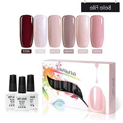 Belle Fille 6 PCS/LOT UV Nail Gel Polish Set Easy Soak off N