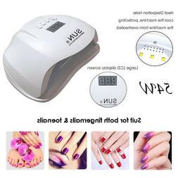 uv nail lamp 54w led nail dryer