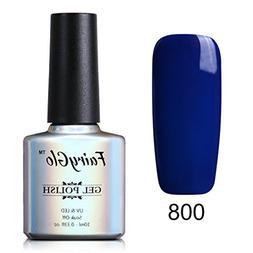 UV LED Nail Polish Soak Off Nail Art Beauty Pearl Blue Colou
