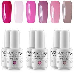 Gellen UV LED Soak Off Gel Nail Polish Popular Fresh Pink 6