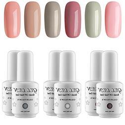 Gellen Warm Nude Colors Gel Nail Polish Set 8ml Each - 6 Col