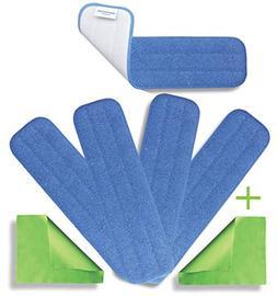 "18"" Microfiber Washable Mop Pads  - Commercial Grade Reusabl"