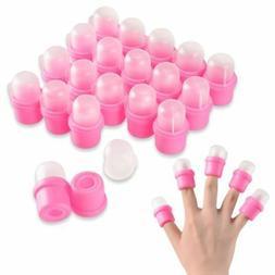 20Pcs Wearable Nail Acrylic Soaker Kits Polish Remover Gel R