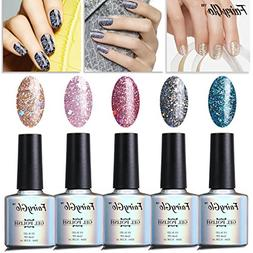 FairyGlo Well-Picked 5 Colour Combo Glitter Gel Nail Polish