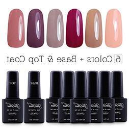 Yaoshun Brand 8ml 8Pcs/lot Soak Off UV Led Gel Nail Polish C